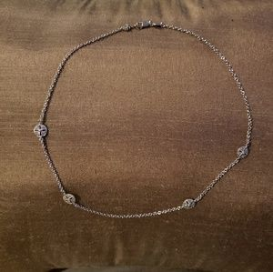 Jewelry - Pave silver station necklace
